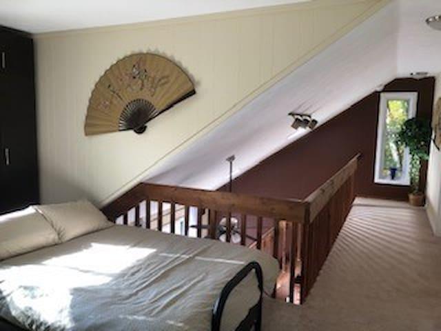 Loft (Second Floor, Queen Bed, Desk)