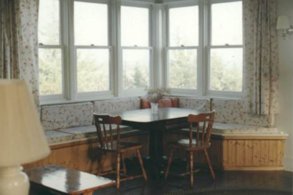 Breakfast area with views of Popham Beach