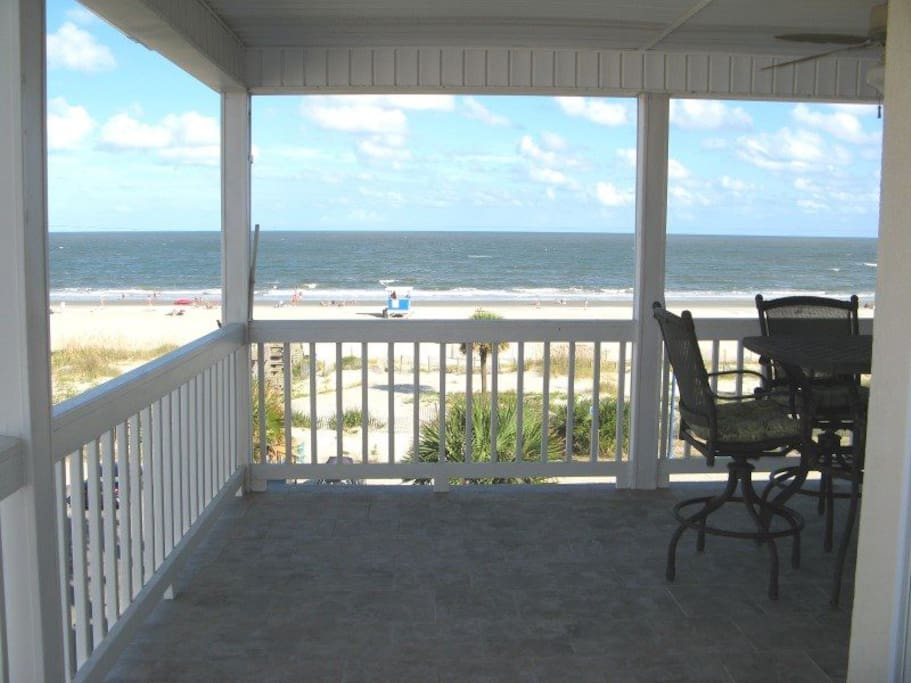 Panoramic View of Tybee Beach from your Private Deck Wrap-Around Balcony with Spectacular Views of Tybee Beach and the Atlantic Ocean