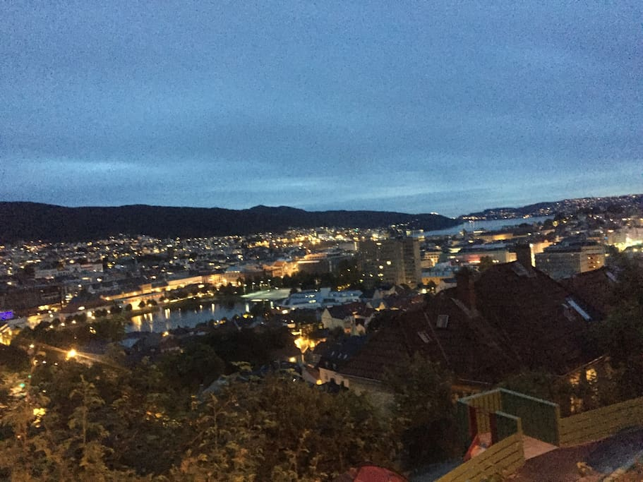 Stay in Bergen with a breathtaking view from the garden/outdoor area as well as from the living room window
