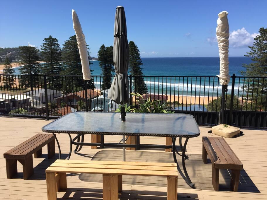 Beach views from the deck