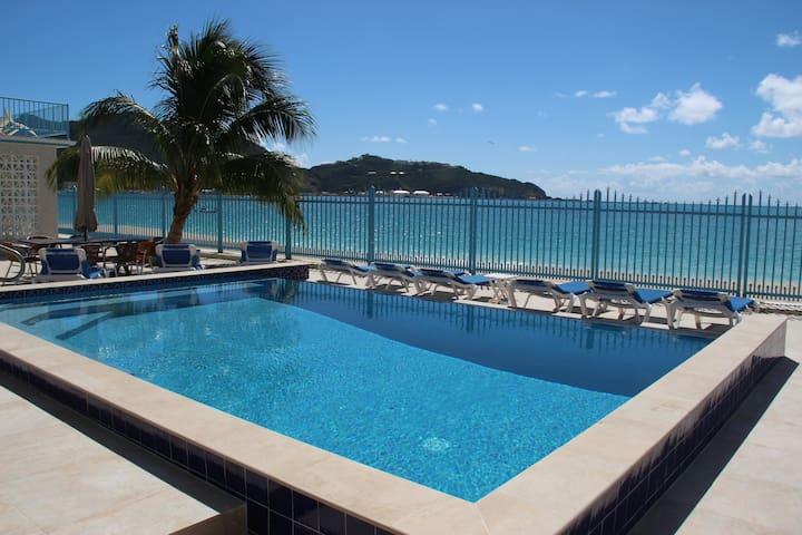 Custom beachfront villa at The Villas on Great Bay