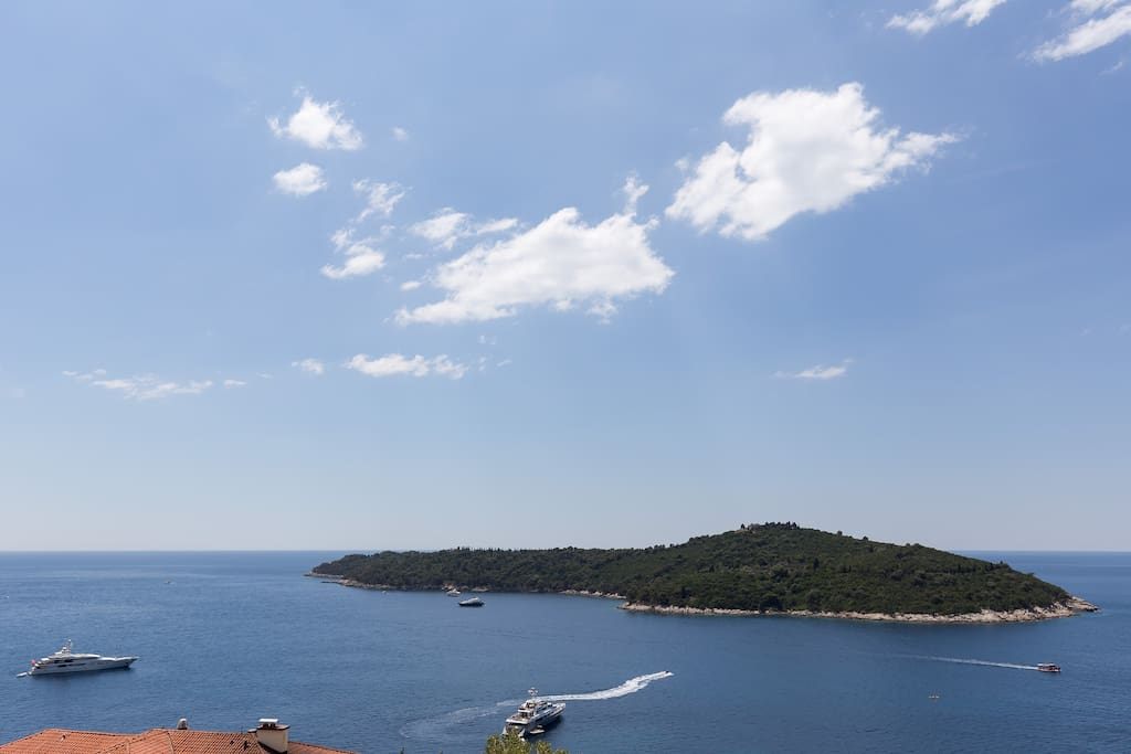 View on Lokrum island from your balcony...