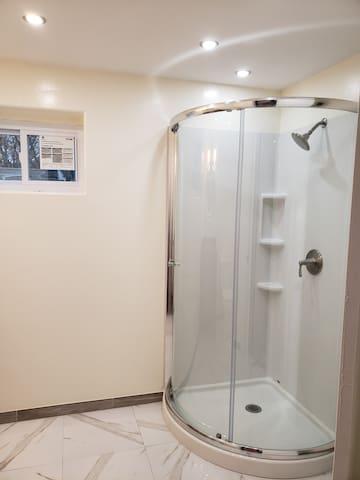 Private basement, kitchen, bedroom, bathroom.