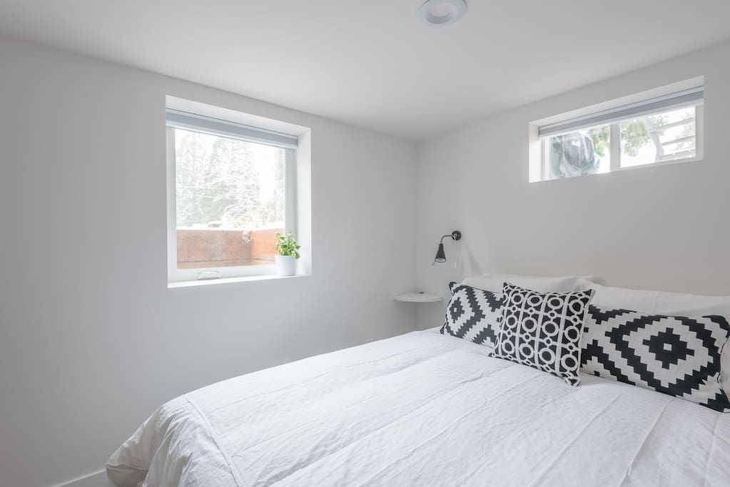 Bright, sunny bedroom