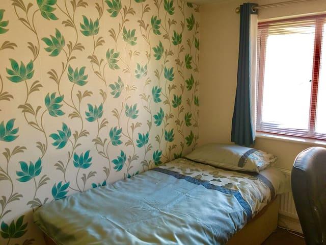 A single modern room.