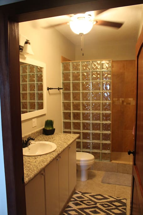 Studio apartment bathroom  https://www.facebook.com/CoralRidgeHouse