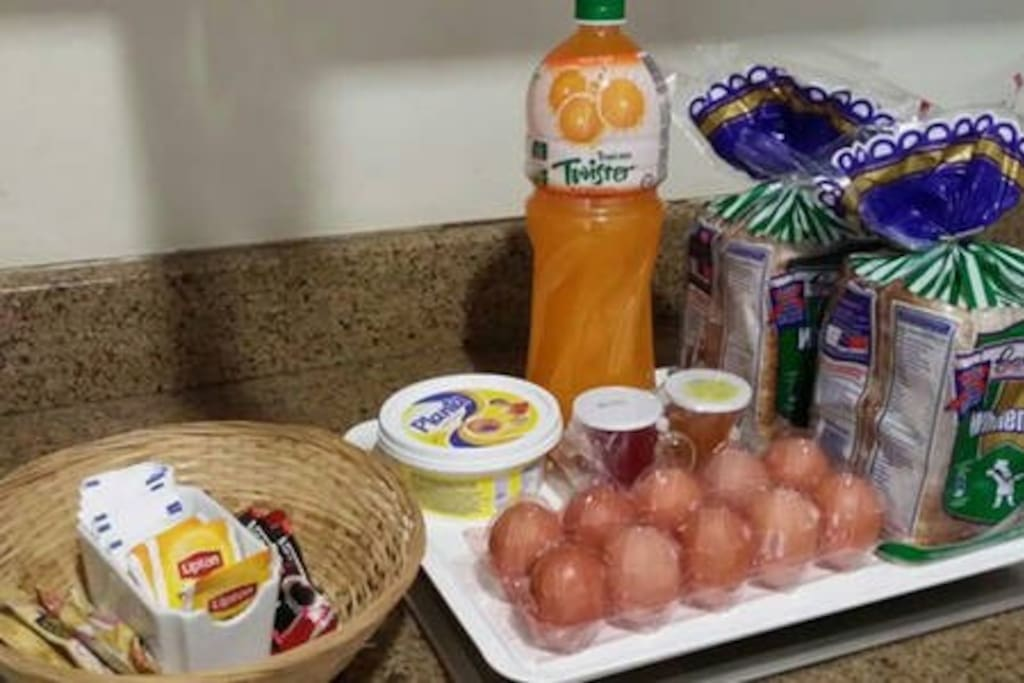 Our FREE breakfast pack for our guests for each night of stay. Our FREE breakfast pack for our guests for each night of stay. Guests need to request for the breakfast pack during booking or NOT LESS than 48 hours before it is needed.