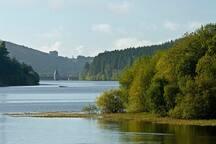 Pontsticill Reservoir nearby.