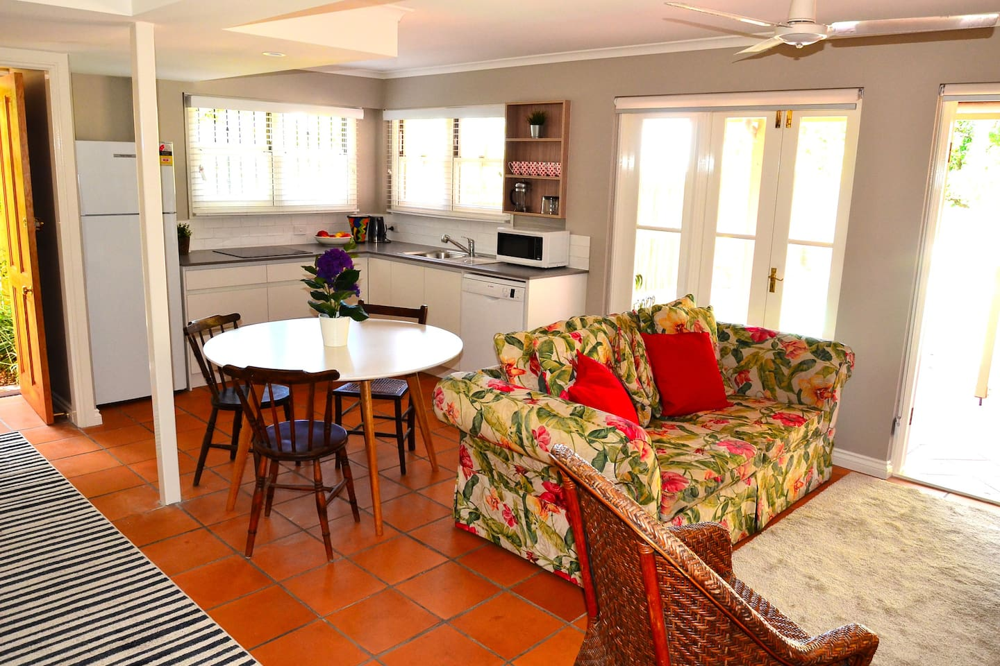 Spacious living, dining and brand new kitchen and bathroom, in self contained private apartment