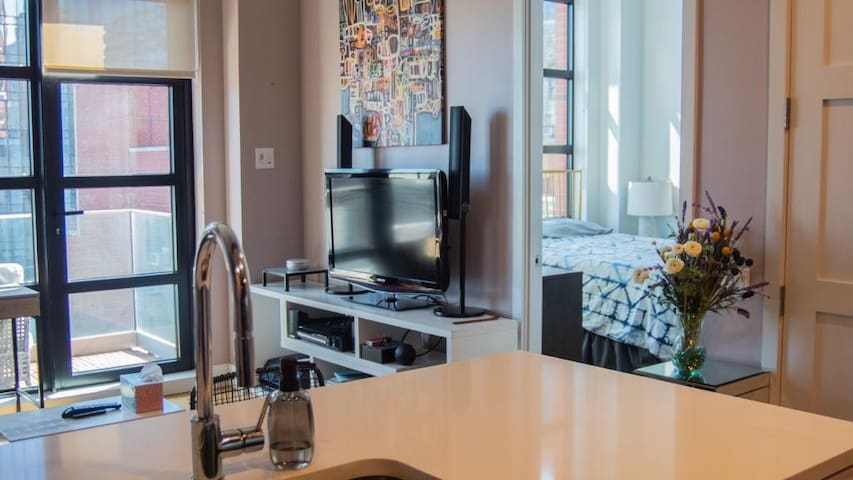 Luxury 1 BR, 1 stop from NYC Amazing amenities!
