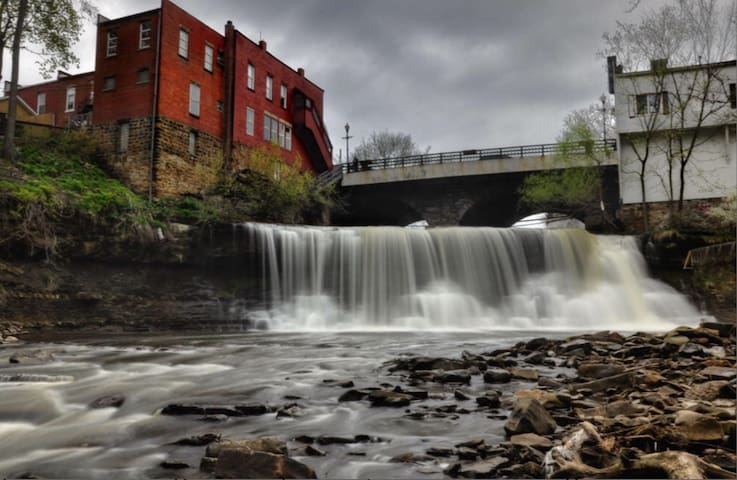 The Falls of Chagrin Falls; walking distance to my house.