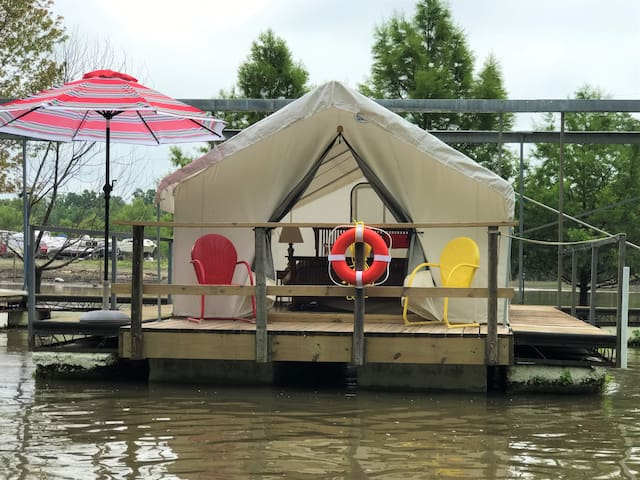A Floating Safari Tent-Glamping in St. Louis