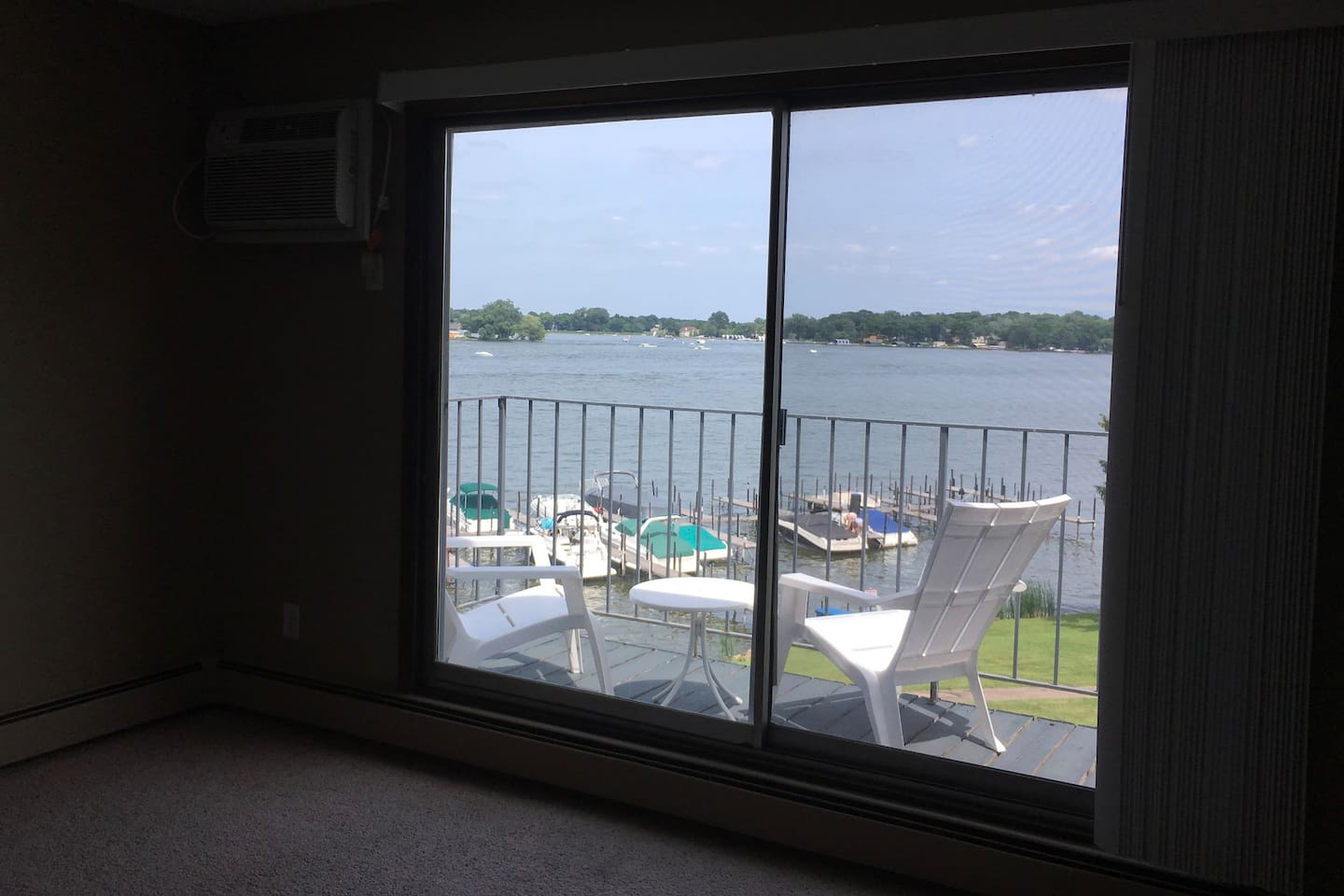 Enjoy expansive lake view from private deck.