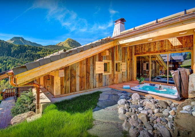 5* See sunset from the hot tub after a great day in the Alps - OVO Network