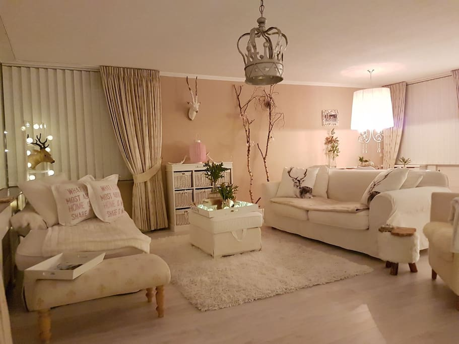 Time to relax in the large apartment 115 sqm, with large living room 65 sqm with open kitchen, tv with international channels and dining table. Enjoy!