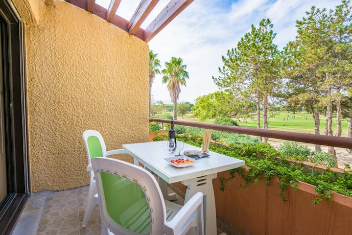 Enjoy meals outside on your private patio.
