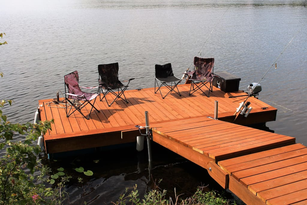 Floating dock, great place to relax.