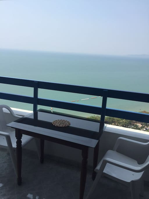 Balcony with Stunning Seats overlooking the Ocea