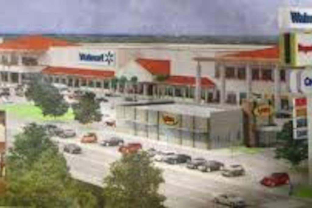 Vista aérea plaza comercial