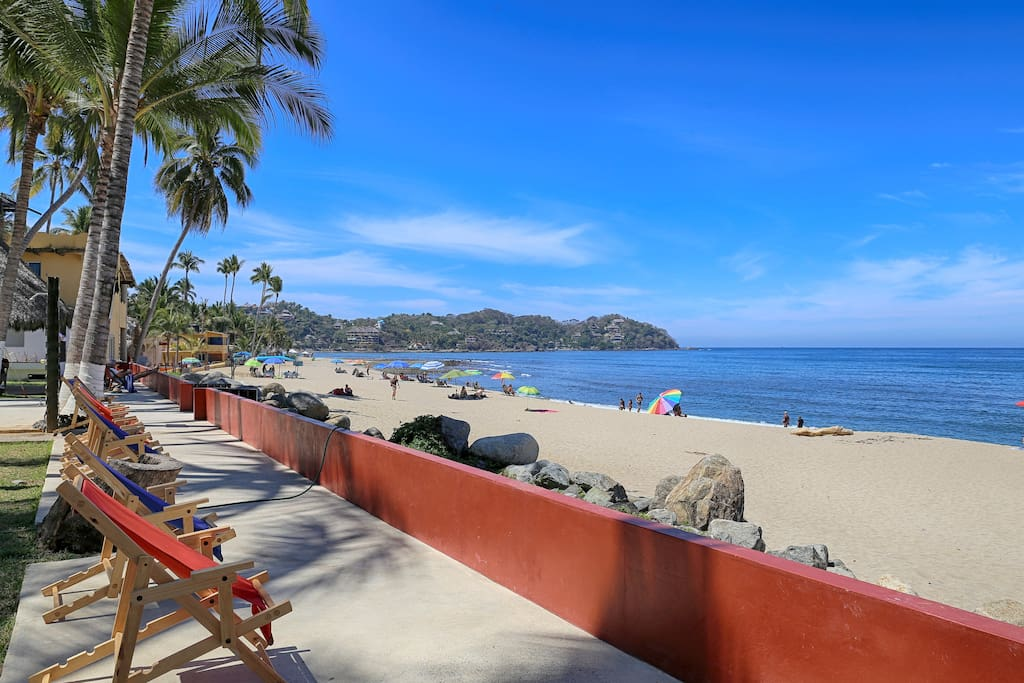 Best coffee spot on Sayulita, watch the surfers every morning.