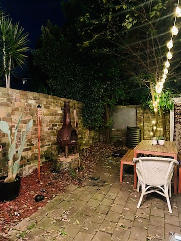 Quirky Newtown terrace with outside fire pit