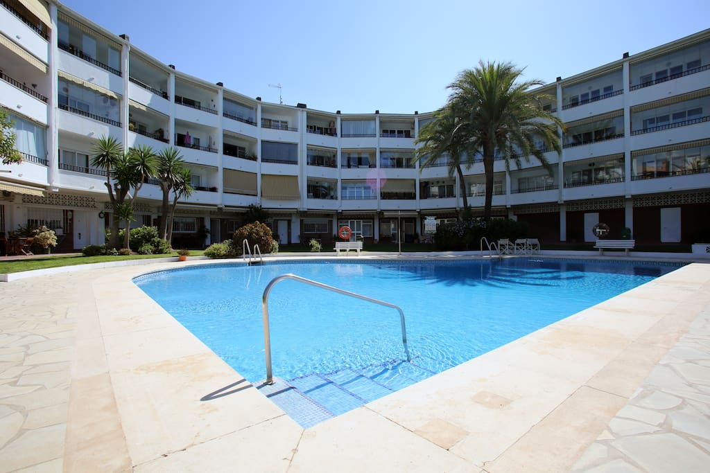 Large pool suitable for everyone and only metres away from the front door.