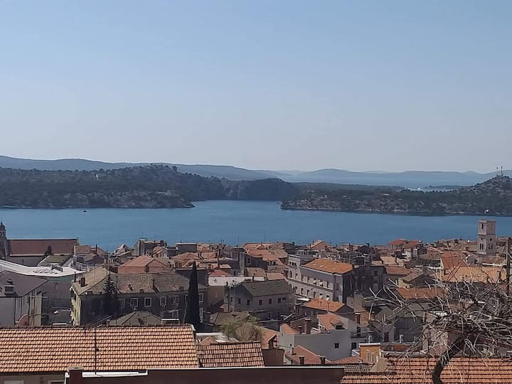 Sunny Inn Room/Apartment - Sibenik, Panoramic View