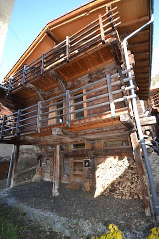 Typical wooden chalet close to Verbier