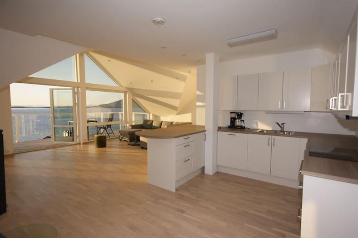 Penthouse leilighet med høy standard Helnessund