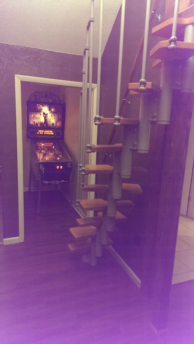 Entrance to enjoy your own private game room where you can play over 600 arcade games for FREE!