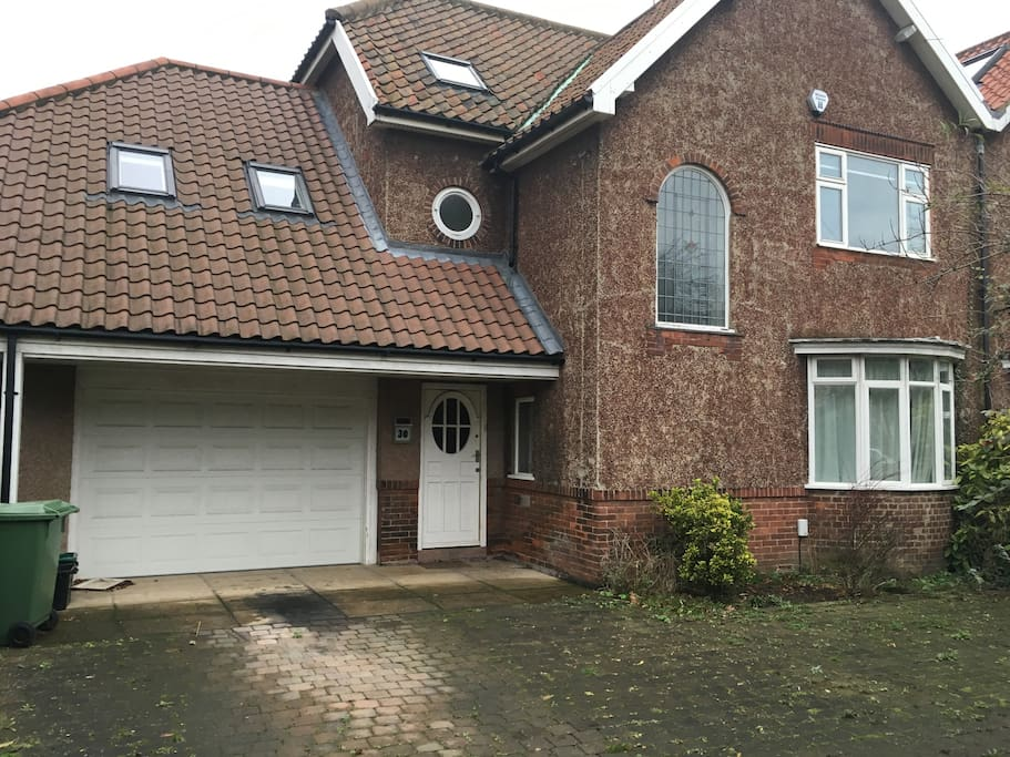 Large family home with garage and off-street parking
