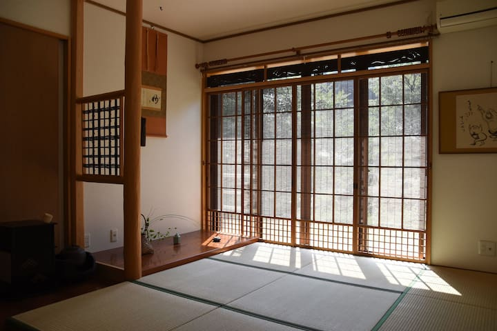 Hotspring Ocean View of Japanese House 自家源泉と茶室井戸つき - Atami-shi - Dom