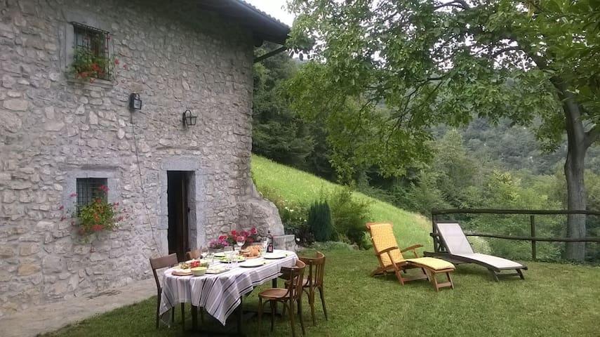 Casale del 1750 immerso nel verde 16 posti letto - Albino - Casa