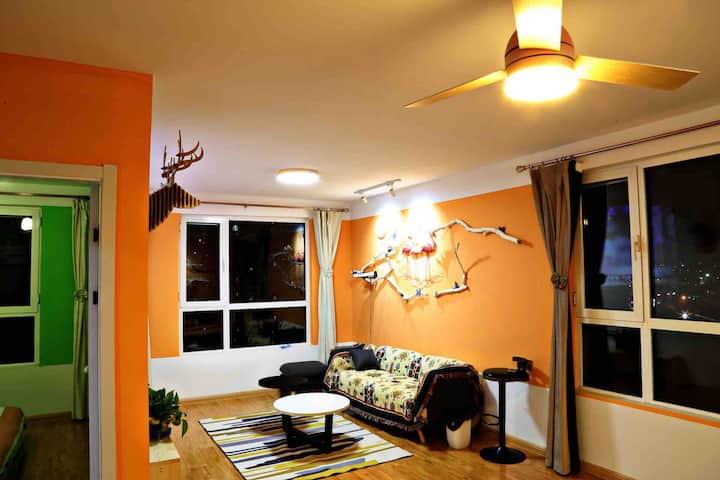 『溥』五木地板,色彩斑斓,近古城新天地一室一厅