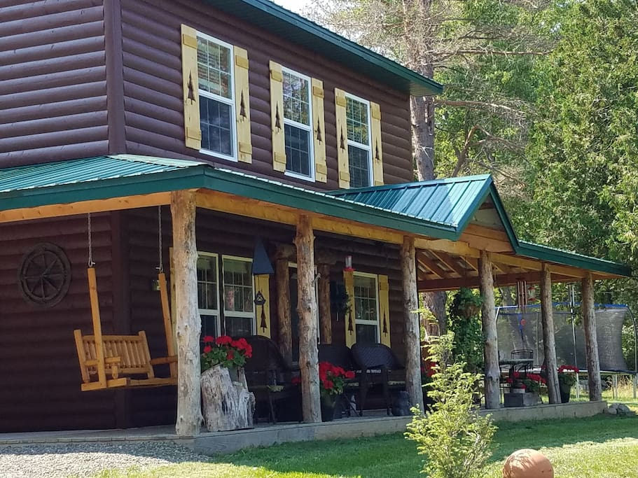 watkins glen log home 1mi to wgi cabins for rent in
