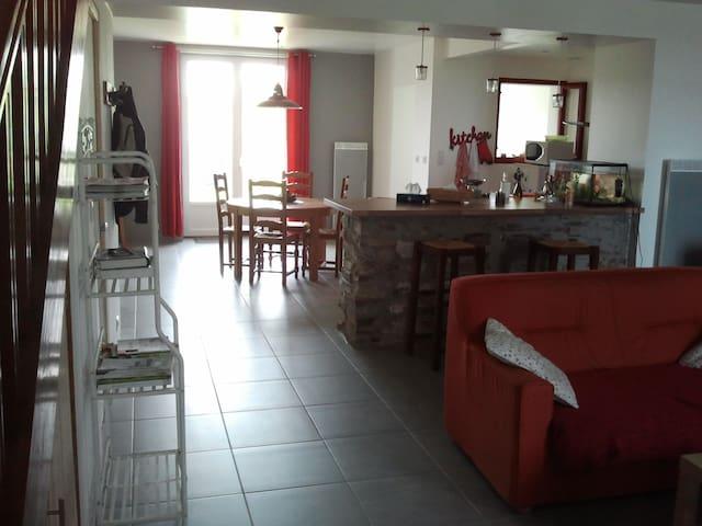 Chambre chez l habitant + petit déjeuner - Vallet - บ้าน