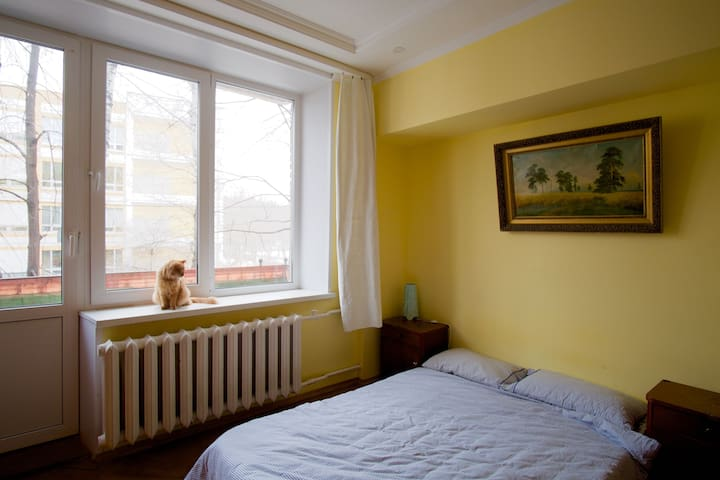 Room with Balcony Facing Sokolniki Park