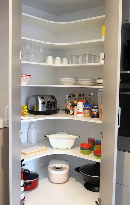 fully stocked pantry with everything you need for cooking meals.