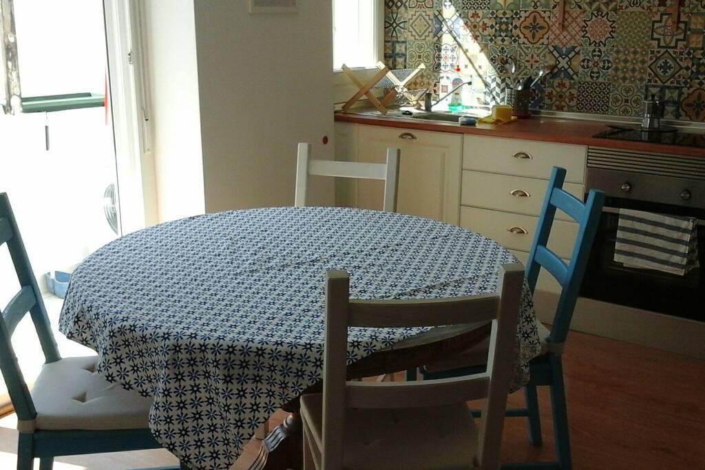 La mesa de cocina