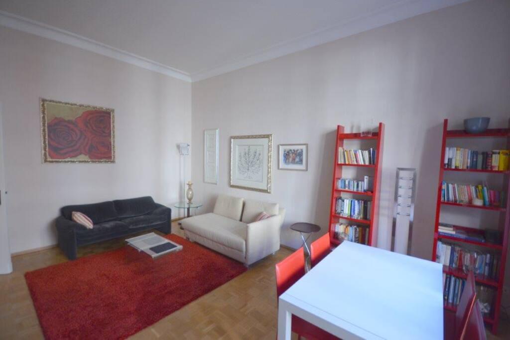 Wohnzimmer (mit Schlafcoach)