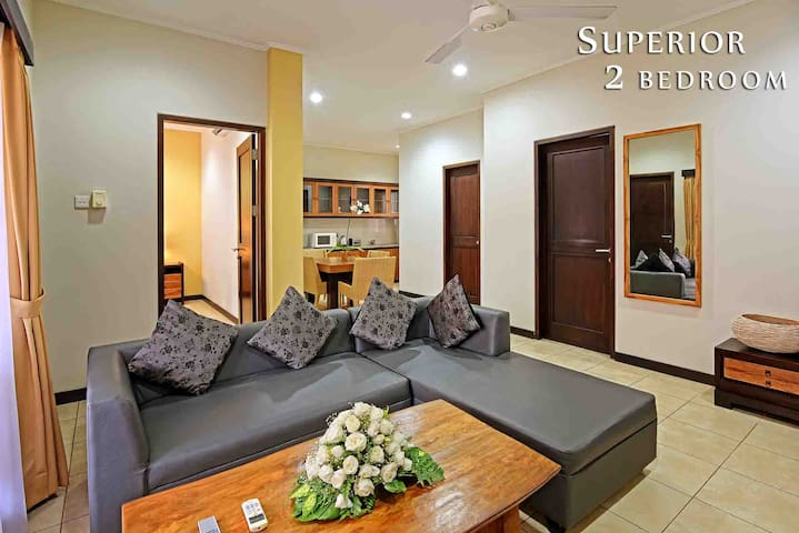 SPACIOUS 2 BEDROOM SUPERIOR @HEART OF KUTA