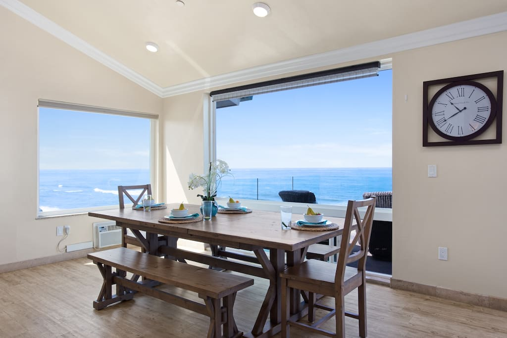 Enjoy Dinner While Looking Out Towards the Sea