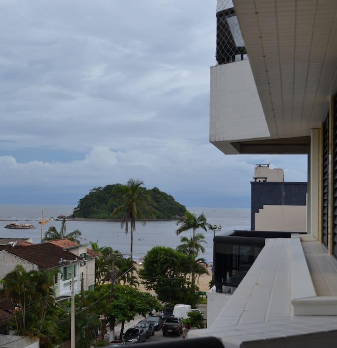 Vista do apartamento para a Praia Mansa