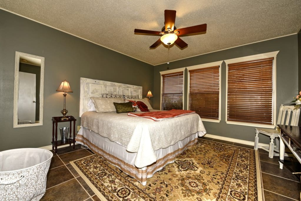 Bedroom #1 with plush king size bed