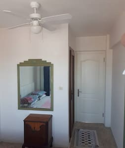 Private Double Bed room with Private bathroom, ceiling fan