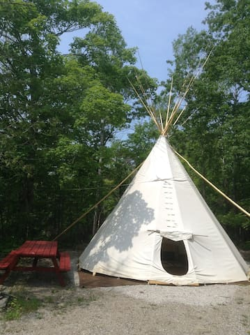Kicking Mule Ranch: 18' Glamour Tipi Camping #3