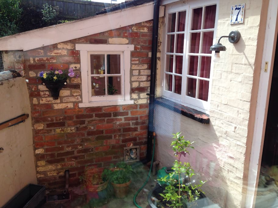 Small back yard - access to back door.