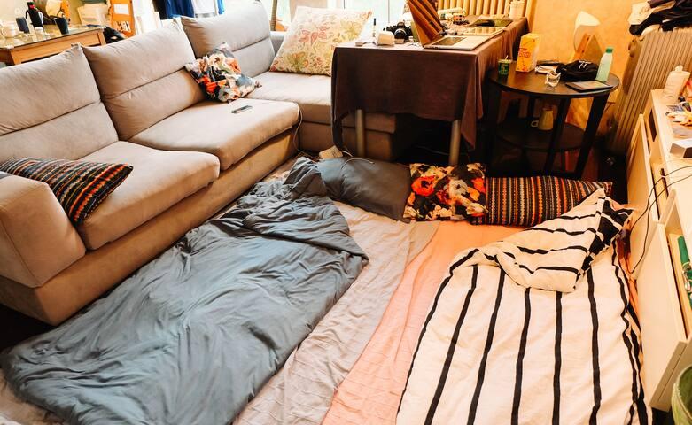 您预订的是一个床位,是沙发或者地铺哦