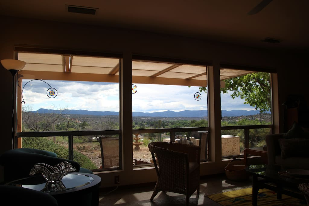 Living room -panoramic views of the Verde Valley.